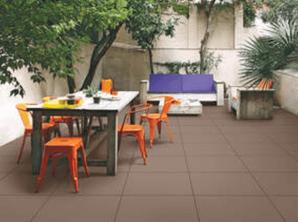 Mosaic outdoor flooring of restaurant area of Hunter Valley Shop.